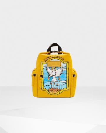 Limited Edition Original Isamaya Ffrench Mini Rubberized Leather Backpack - Bird