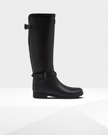 Women's Refined Adjustable Tall Studded Rain Boots