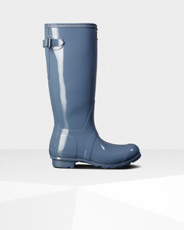 Women's Original Tall Back Adjustable Gloss Rain Boots