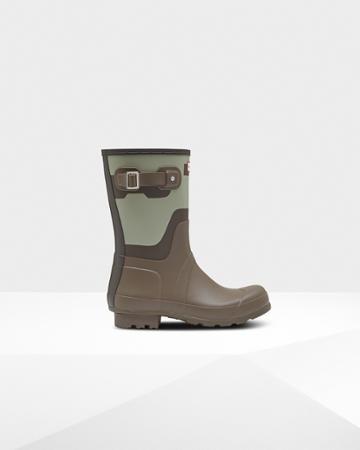 Men's Original Short Shadow Print Rain Boots