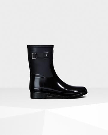 Women's Refined Slim Fit Short Gloss Duo Rain Boots