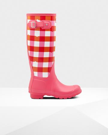 Women's Original Tall Gingham Print Rain Boot