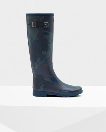 Women's Refined Slim Fit Printed Rain Boots