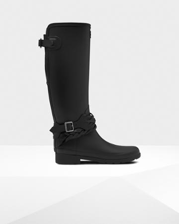 Women's Refined Tall Back Adjustable Biker Boots