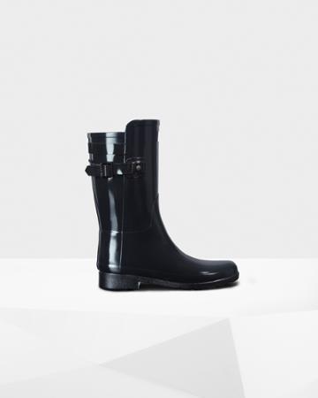 Women's Original Short Refined Back Strap Gloss Rain Boots
