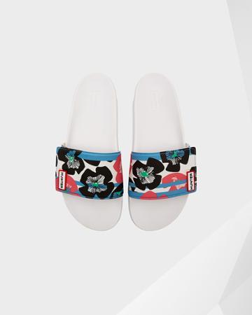 Women's Original Floral Stripe Adjustable Slides