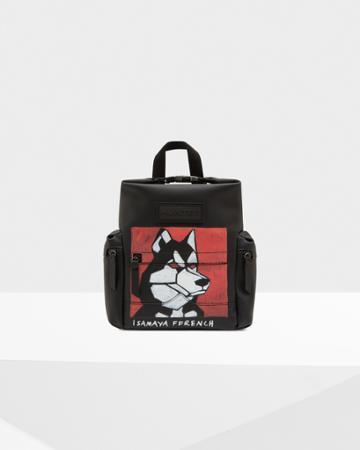 Limited Edition Original Isamaya Ffrench Mini Rubberized Leather Backpack - Dog