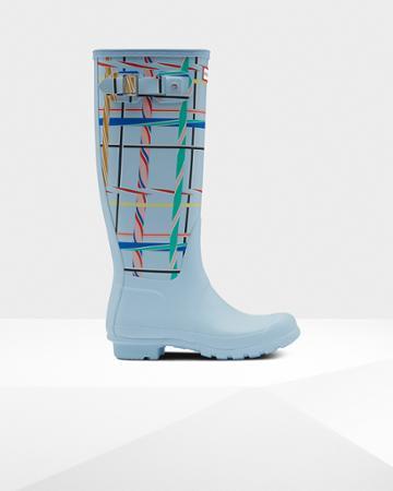 Women's Original Tall Rock Tartan Rain Boots