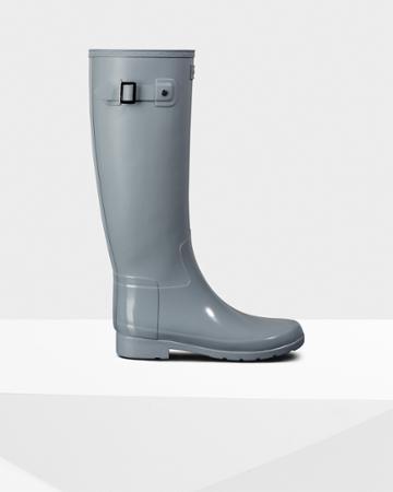 Women's Refined Slim Fit Gloss Duo Tall Rain Boots