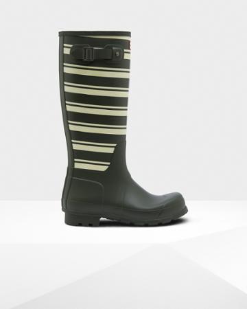 Men's Original Garden Stripe Tall Rain Boots