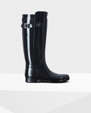 Women's Original Refined Back Strap Gloss Rain Boots