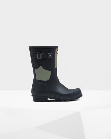 Men's Original Short Gingham Print Rain Boots