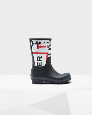 Men's Original Exploded Logo Short Rain Boots