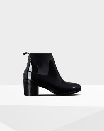 Women's Refined Slim Fit Gloss Mid Heel Boots