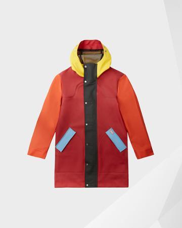 Men's Original Color Blocked Rubberised Hunting Coat