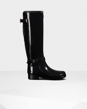 Women's Refined Slim Fit Adjustable Tall Gloss Rain Boots