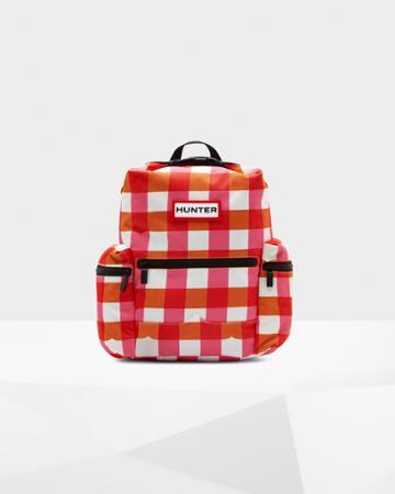 Original Mini Gingham Top Clip Backpack - Nylon