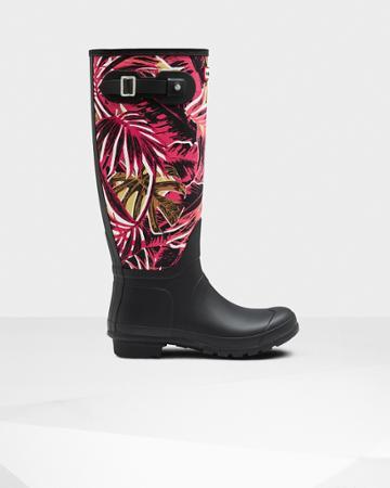 Women's Original Jungle Print Canvas Rain Boots