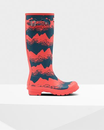 Women's Original Tall Storm Stripe Rain Boots