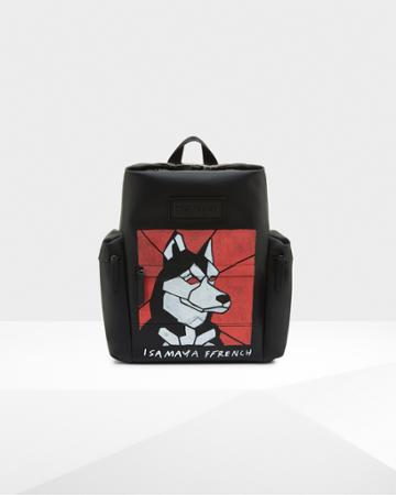 Limited Edition Original Isamaya Ffrench Rubberized Leather Backpack