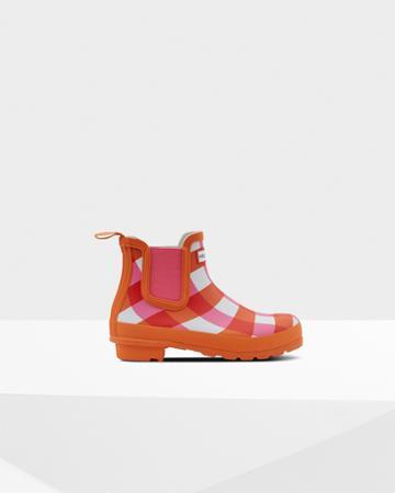 Women's Original Gingham Print Chelsea Boots