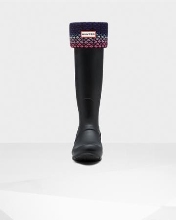 Fair Isle Lattice Boot Socks