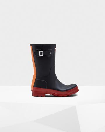 Men's Original Color Block Short Rain Boots
