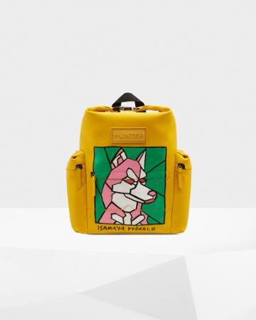 Limited Edition Original Isamaya Ffrench Rubberized Leather Backpack - Dog