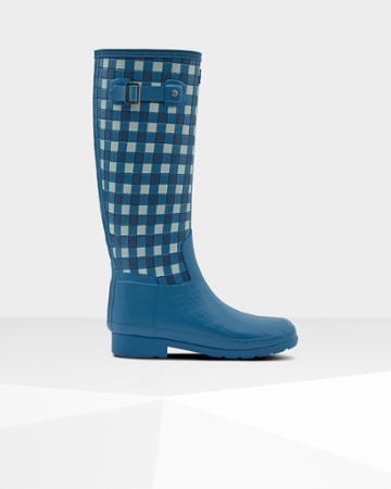 Women's Refined Slim Fit Woven Rain Boots
