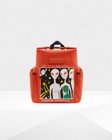 Limited Edition Original Isamaya Ffrench Rubberized Leather Backpack - Alien