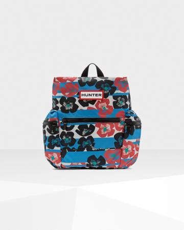 Original Floral Stripe Nylon Mini Backpack