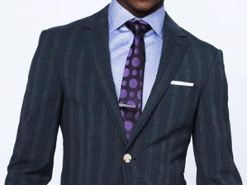 Indochino Washed Indigo Glen Check Custom Tailored Men's Suit