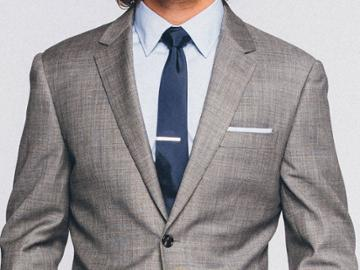 Indochino Premium Gray Sharkskin Custom Tailored Men's Suit
