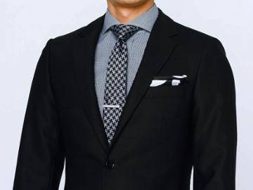 Indochino Midnight Tonal Nailhead Custom Tailored Men's Suit