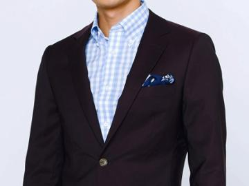 Indochino Burgundy Wool Stretch Custom Tailored Men's Suit