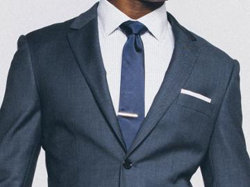 Indochino Premium Indigo Sharkskin Custom Tailored Men's Suit