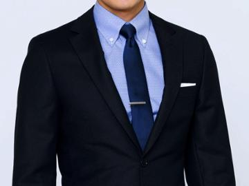 Indochino Navy Crepe Weave Custom Tailored Men's Suit