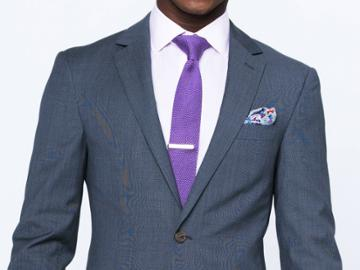 Indochino Slate Gray Textured Twill Custom Tailored Men's Suit