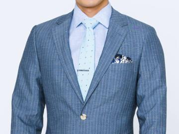 Indochino Washed Indigo Pinstripe Custom Tailored Men's Suit