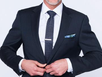 Indochino Deep Indigo Nailhead Custom Tailored Men's Suit