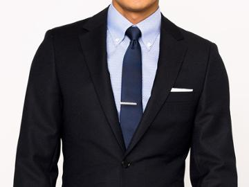 Indochino Black Wool Stretch Custom Tailored Men's Suit