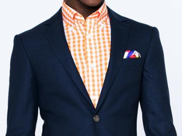 Indochino Navy Prince Of Wales Custom Tailored Men's Suit