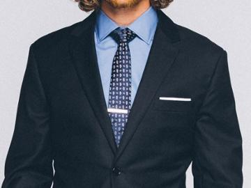 Indochino Deep Indigo Pebbleweave Custom Tailored Men's Suit