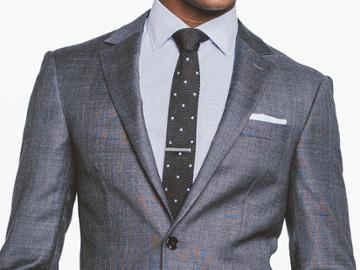 Indochino Charcoal Glen Check Custom Tailored Men's Suit