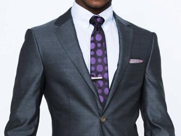 Indochino Charcoal Crepe Weave Custom Tailored Men's Suit