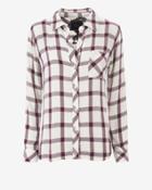 Rails Hunter Plaid Shirt: Cream/rose
