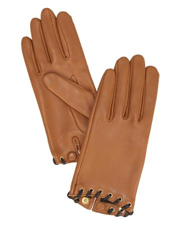 Agnelle Gamme Nappa Leather Gloves Brown 7
