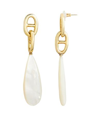 Lizzie Fortunato Grotto Drop Earrings Gold/ivory 1size