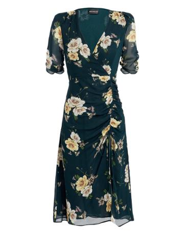 Nicholas Tea Midi Dress Dark Blue/floral 10
