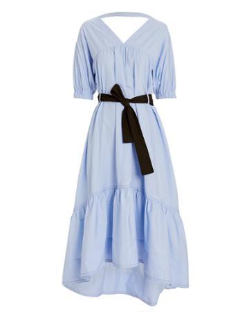 3.1 Phillip Lim Cotton Poplin A-line Dress Blue 4